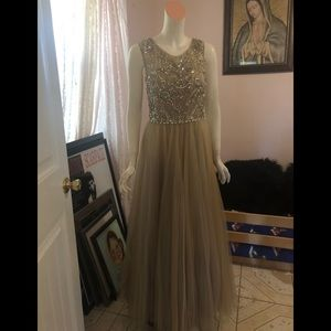 Sherri Hill Dresses - Evening champagne color gown